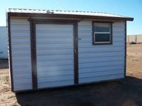10X12 Metal Storage Building. Previously used for hay