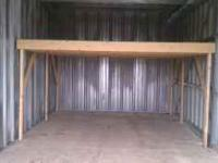 We built this loft for our 10x20 storage unit at