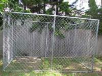 Appox 10x6x6 chain link Dog Kennel for sale. Pick up