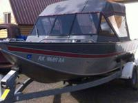Smoker Craft Aluminum boat, 18 foot, open bow, with