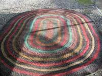 FOR SALE: 11'' 4'' BY 7'' 6'' BRAIDED RUG, IT IS READY