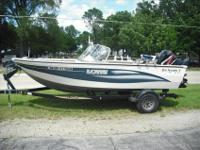 This 17 foot Lowe fish & ski is perfect for a relaxing