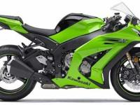 2011 KAWASAKI NINJA ZX, Two-tone Lime Green / Ebony,
