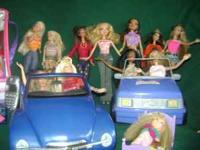 11 Barbie dolls (9 Barbies, plus Shaggy, Velma, and