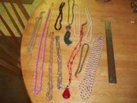 11 Costume Jewelry Necklaces. Various. Call Gary at