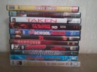 A lot of 11 DVD'S all in great condition, Taken,