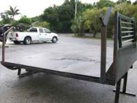 "11' FLAT BED WITH GOOSENECK HITCH 7'2"" WIDE WITH RUB"