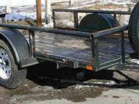 11' Innovative Single Axel Flat Bed Trailer With Ramp