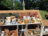 Hand crafted 11 room doll house has many extras
