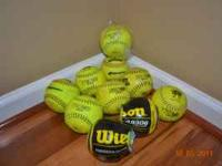 Selling 2 new in wrapper Wilson, girls softballs and 1