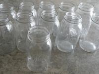 11 Vintage Quart Sized Kerr mason jars. They all say