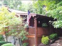 """SWEET SECLUSION"" -- REAL LOG CABIN, ROMANTIC DECOR,"