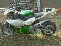 I have a 110 super pocket bike its green,silverand
