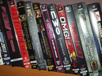 110 wwe dvds. Concerning 7 of them are tna or others.