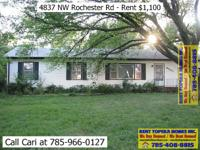 $1,100 per month - 3 bedrooms 1.5 bath home with 1 car