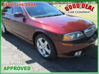 Utilized 2001 Lincoln LS Low Miles! Stk #: 1111-. Far: