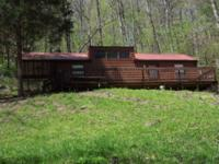 1.10 ac with the cutest rustic cabin in a wooded