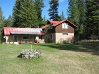 Log and frame constructed home on 18+ acres, new