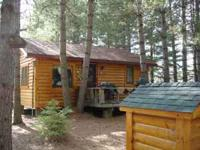 TWO LOG SIDED CABINS TO BE MOVED TO YOUR AREA. GREAT