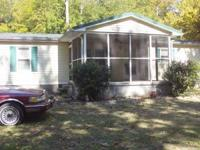doublewide mobile home,excellent condition. no lake,2