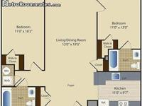 2 Bedroom 2 Bath unit to share. The Aventine at Fort