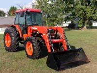 single owner-well kept- Kubota M9000 tractor & cab with