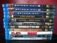 Selling 11 Blu Ray dvds.... Excellent condition. NO