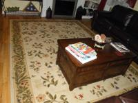 This 11X 9 Area is Rug-acrylic easy clean floral, soft