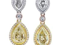 StylenFancy Yellow Diamond Pear Shape Drop