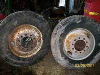 have 2 10 bolt 8 1/2 in center rims for tractor truck.