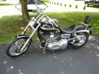 2003 black Dyna Wide Glide Harley Davidson 100th
