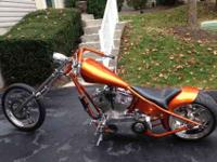 2006 custom chopper hardtail, Bike has a clear title