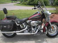 this is a hertiage softail classic with 3992 miles on