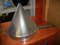 "12 1/2"" Stainless Steel Conical Strainer 12 1/2""Dia."