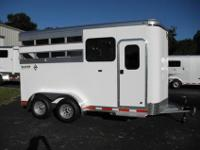 2012 Shadow Select two horse straight load bumper pull