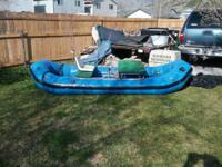 I have an older 12.5 ft raft with a frame for sale. It