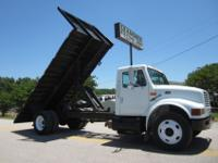"1998 International 4700 18' x 102"" Flatbed Dump,"