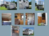 1998 Elite 2 3 horse slant with living quarters. Shower