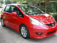 This ONE OWNER - Milano Red - Honda Fit Sport has