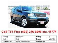 2004 Ford Expedition Estate Green Metallic 4x4 XLT SUV