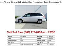 2004 Toyota Sienna White XLELimited 4dr Front-wheel