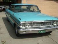 Classic 1964 galaxie XL500 fast back two doorhas been