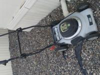 Selling my Task Force 12 Amp Electric Lawnmower. Its
