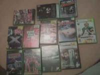 I am selling 12 assorted xbox and 360 games all play,