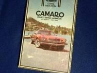 CAMARO OWNERS FROM 1967 TO 1978 shop manual BY CLYMER.