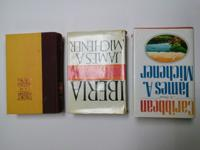 $5 each or $12 for all 3 novels by James Michener The