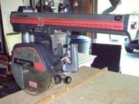 "12"" Craftsman Radial Arm Saw, 220 Volt, like new"
