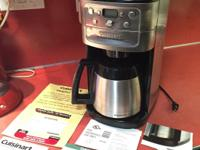 12 Cup Cusinart Fully Automatic burr grind and brew
