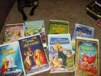 I have 12 Disney VHS tapes, that need to go. Titles are