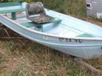 12 foot Sea King aluminum row boat and Tee Nee trailer;